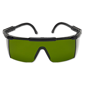 safety glasses, plastic, for use while firing with kiln and torches.  sold individually.