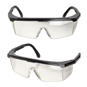 safety glasses, polycarbonate and nylon, clear and black, anti-fog and scratch-resistant. sold individually.