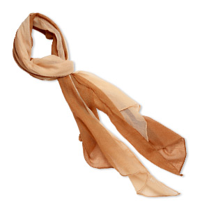 scarf, polyester, tan and camel, 60x24-inch rectangle. sold individually.