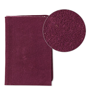 scrap, leather (dyed), purple, 9-1/4 x 3-1/2 inch square. sold individually.