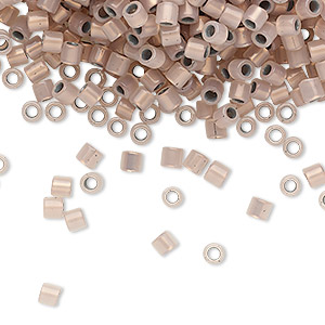 seed bead, delica, glass, copper-lined opal, (dbl0191), #8 round. sold per 7.5-gram pkg.