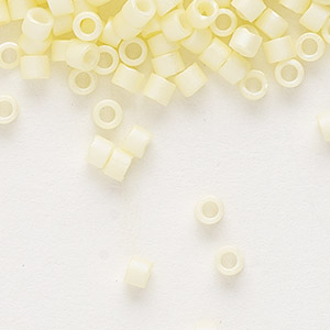 seed bead, delica, glass, opaque matte rainbow jonquil, (db1521), #11 round. sold per 7.5-gram pkg.