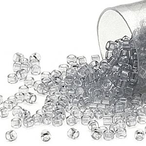 seed bead, delica, glass, transparent crystal amethyst ice, (db1406), #11 round. sold per 7.5-gram pkg.
