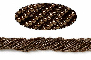 seed bead, preciosa, czech glass, opaque iris metallic copper, #11 round. sold per 1/2 kilogram pkg.