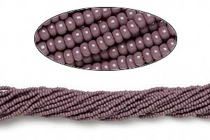 seed bead, preciosa, czech glass, opaque purple, #11 round. sold per hank.