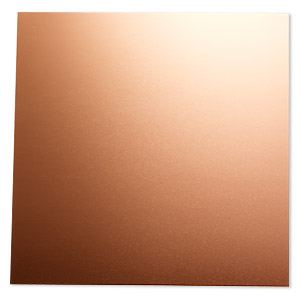 sheet, anodized aluminum, copper, 5-3/4 x 5-3/4 inch square, 20 gauge. sold individually.