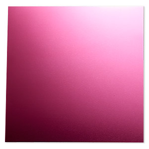sheet, anodized aluminum, magenta, 5-3/4 x 5-3/4 inch square, 26 gauge. sold individually.