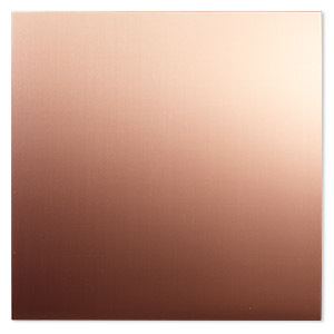 sheet, copper, half-hard, 6x6-inch square, 28 gauge. sold individually.