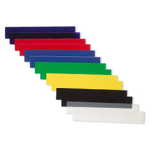 slats, acrylic, assorted colors, 6 inches. sold per 12-piece set.