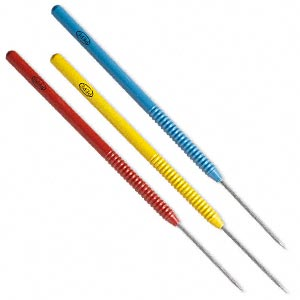 solder pick, titanium, red / blue / yellow, 6-1/2 inches with non-stick tips. sold per 3-piece set.