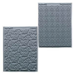 stamp, lisa pavelka, rubber, grey, 4-1/4 x 5-1/2 inches with natural texture. sold per pkg of 2.