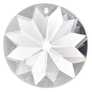 suncatcher, asfour crystal, crystal, crystal clear, 40x40x20mm sun prism dx. sold per pkg of 17.