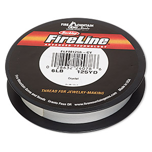 thread, berkley fireline, gel-spun polyethylene, crystal, 0.15mm diameter, 6-pound test. sold per 125-yard spool.