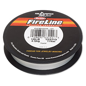 thread, berkley fireline, gel-spun polyethylene, crystal, 0.2mm diameter, 10-pound test. sold per 125-yard spool.