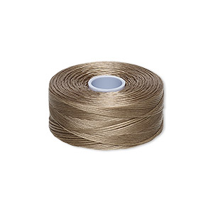 thread, c-lon, nylon, ash, size d. sold per pkg of (2) 78-yard bobbins.