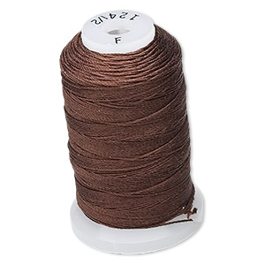 thread, purely silk™, chestnut, size f. sold per 140-yard spool.