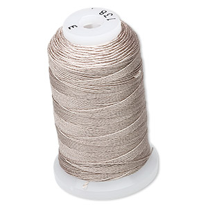thread, purely silk™, grey, size e. sold per 200-yard spool.