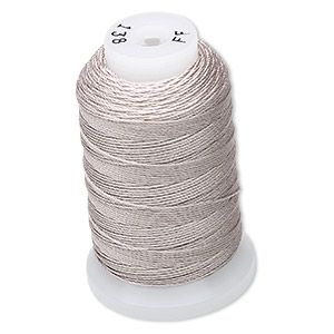 thread, purely silk™, grey, size ff. sold per 115-yard spool.