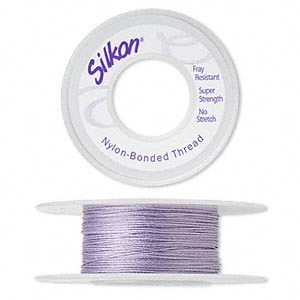 thread, silkon, bonded nylon, medium-weight #2, orchid. sold per 20-yard spool.