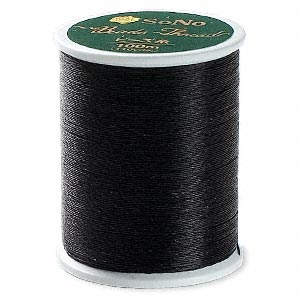 thread, sono, black. sold per 110-yard spool.