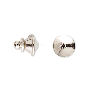 tie tac clutch, nickel-plated brass, 11.5x10mm push-in. sold per pkg of 10.
