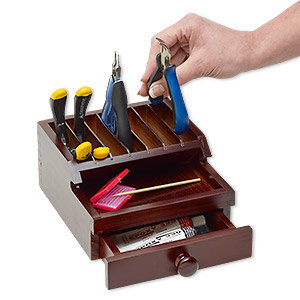 tool organizer, park your pliers™, wood, brown, 7 x 3-1/2 x 6-1/2 inches. sold individually.