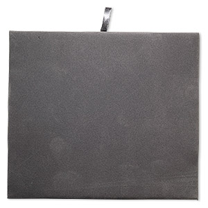 tray insert, velveteen, grey, 7-3/4 x 6-3/4 inch pad. sold individually.
