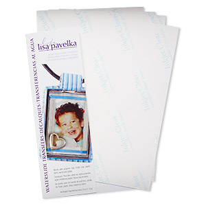 waterslide transfer, lisa pavelka, paper, 8-1/2 x 5-1/2 inch blank. sold per pkg of 4 sheets.