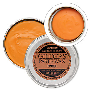 wax paste, gilders paste, orange. sold per 1-ounce canister.