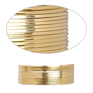 wire, 12kt gold-filled, dead-soft, square, 24 gauge. sold per pkg of 5 feet.