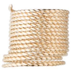 wire, 12kt gold-filled, full-hard, twisted square, 18 gauge. sold per pkg of 5 feet.