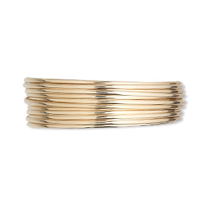 wire, 12kt gold-filled, half-hard, half-round, 18 gauge. sold per pkg of 5 feet.