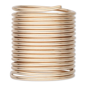 wire, 12kt gold-filled, half-hard round, 12 gauge. sold per 5-foot pkg.