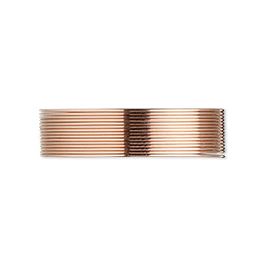 wire, 12kt rose gold-filled, half-hard, round, 24 gauge. sold per pkg of 25 feet.