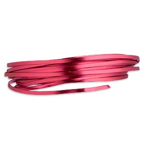 wire, anodized aluminum, red, 4x1.2mm flat, 16 gauge. sold per pkg of 18 feet.