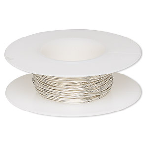 wire, argentium silver, dead-soft, round, 24 gauge. sold per pkg of 25 feet.