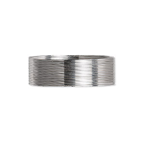 wire, beadalon, stainless steel, 3/4 hard, round, 24 gauge. sold per pkg of 12 meters.