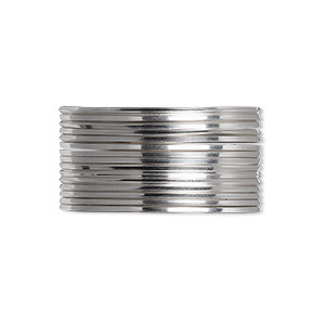 wire, beadalon, stainless steel, 3/4 hard, square, 20 gauge. sold per pkg of 3 meters.