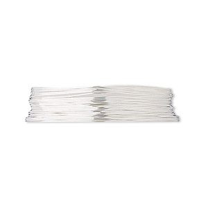 wire, fine silver, dead-soft, round, 28 gauge. sold per pkg of 5 feet.