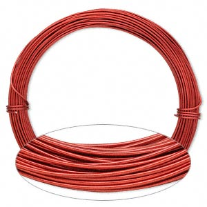 wire, painted aluminum, red, round, 18 gauge. sold per pkg of 45 feet.