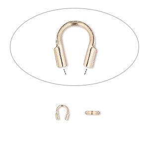 wire protector, accu-guard™, 14kt rose gold-filled, 5x4mm tube, 0.8mm inside diameter. sold per pkg of 10.