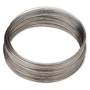 wire, stainless steel, half-hard, round, 28 gauge. sold per pkg of 55 feet.