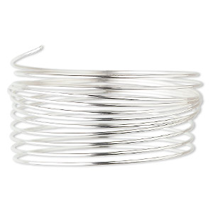 wire, sterling silver, dead-soft, round, 22 gauge. sold per pkg of 5 feet.