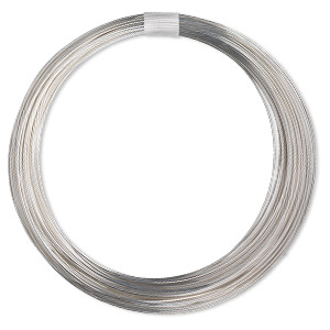 wire, sterling silver-filled, full-hard, round, 18 gauge. sold per pkg of 10 feet.