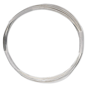 wire, sterling silver-filled, full-hard, round, 22 gauge. sold per 100-foot spool.