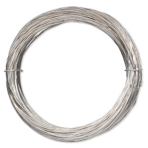 wire, sterling silver-filled, full-hard, round, 24 gauge. sold per 10-foot spool.