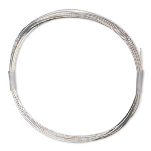 wire, sterling silver-filled, full-hard, round, 26 gauge. sold per 10-foot spool.