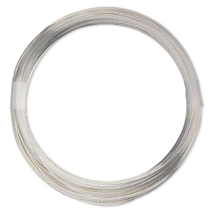 wire, sterling silver-filled, half-hard, round, 20 gauge. sold per pkg of 10 feet.