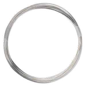 wire, sterling silver-filled, half-hard, round, 22 gauge. sold per 10-foot spool.