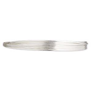 wire, sterling silver, full-hard, half-round, 20 gauge. sold per pkg of 5 feet.